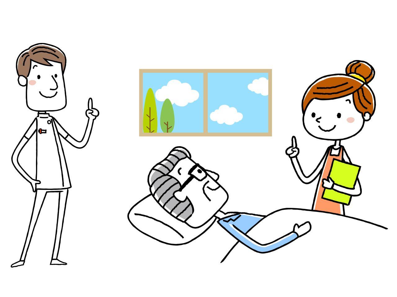 重度訪問介護従業者の仕事内容・資格の取得ルートを説明している人のイメージイラスト