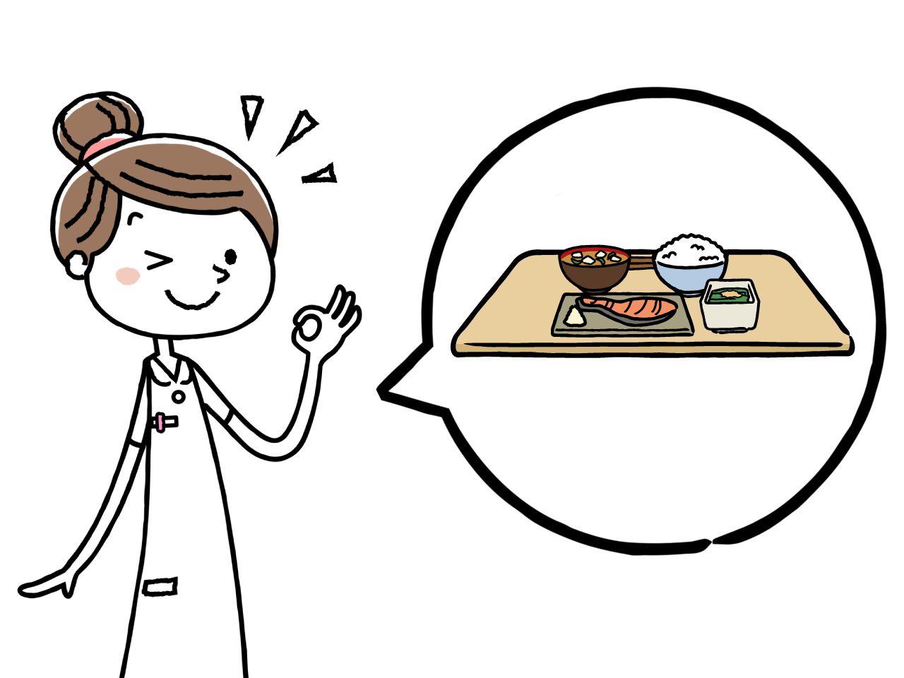 介護食アドバイザーの仕事をしている人のイメージイラスト