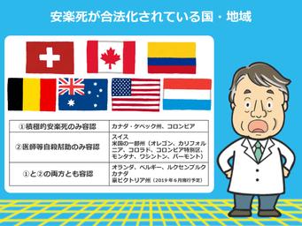 死 で 安楽 が され 世界 化 初めて 国 合法 た 安楽死・尊厳死が合法ではない日本。海外では合法国もあり費用もそれなり